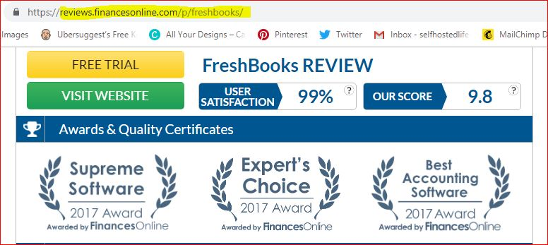 FreshBooks review by Financesonline