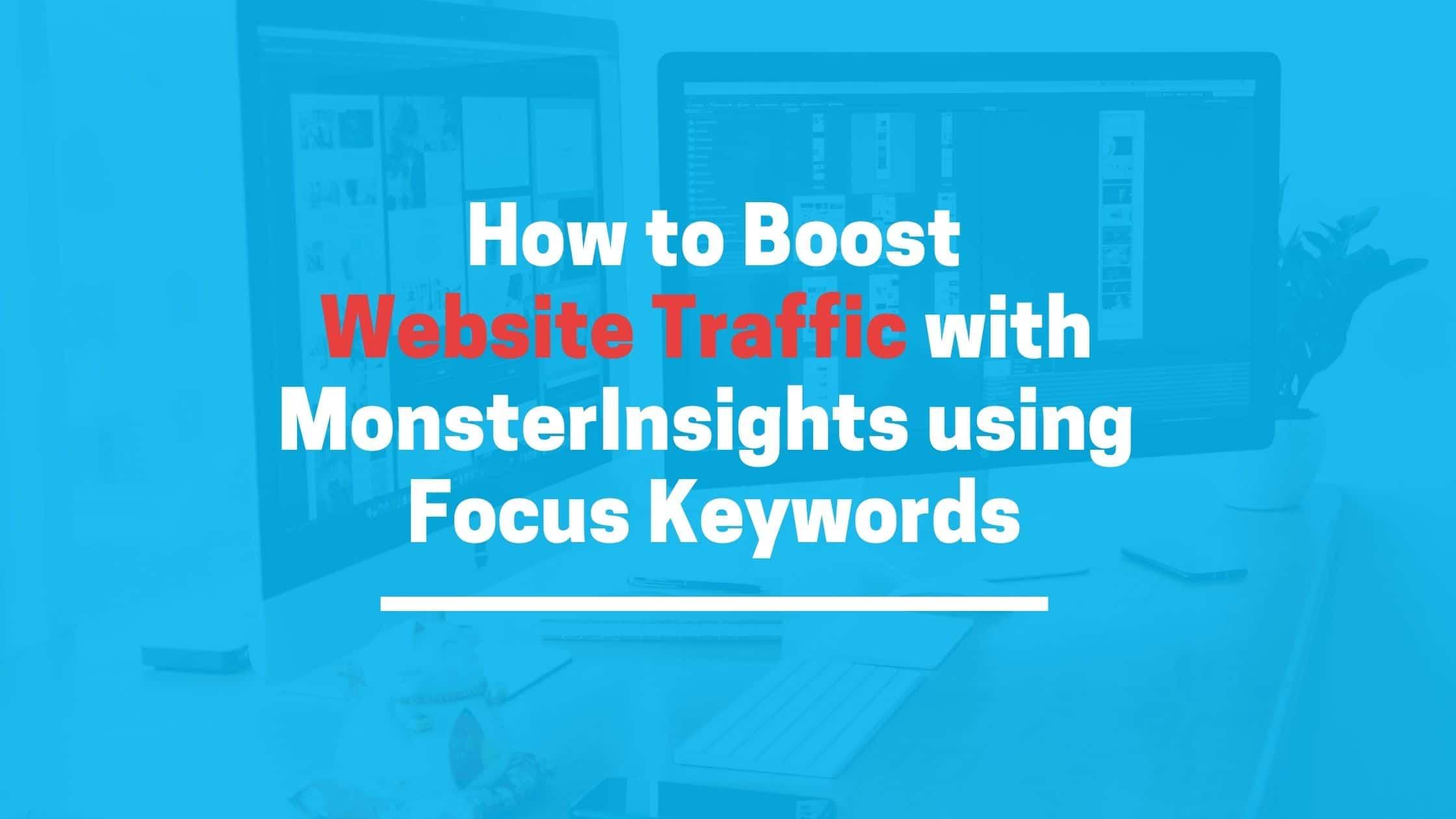 Website Traffic using MonsterInsights