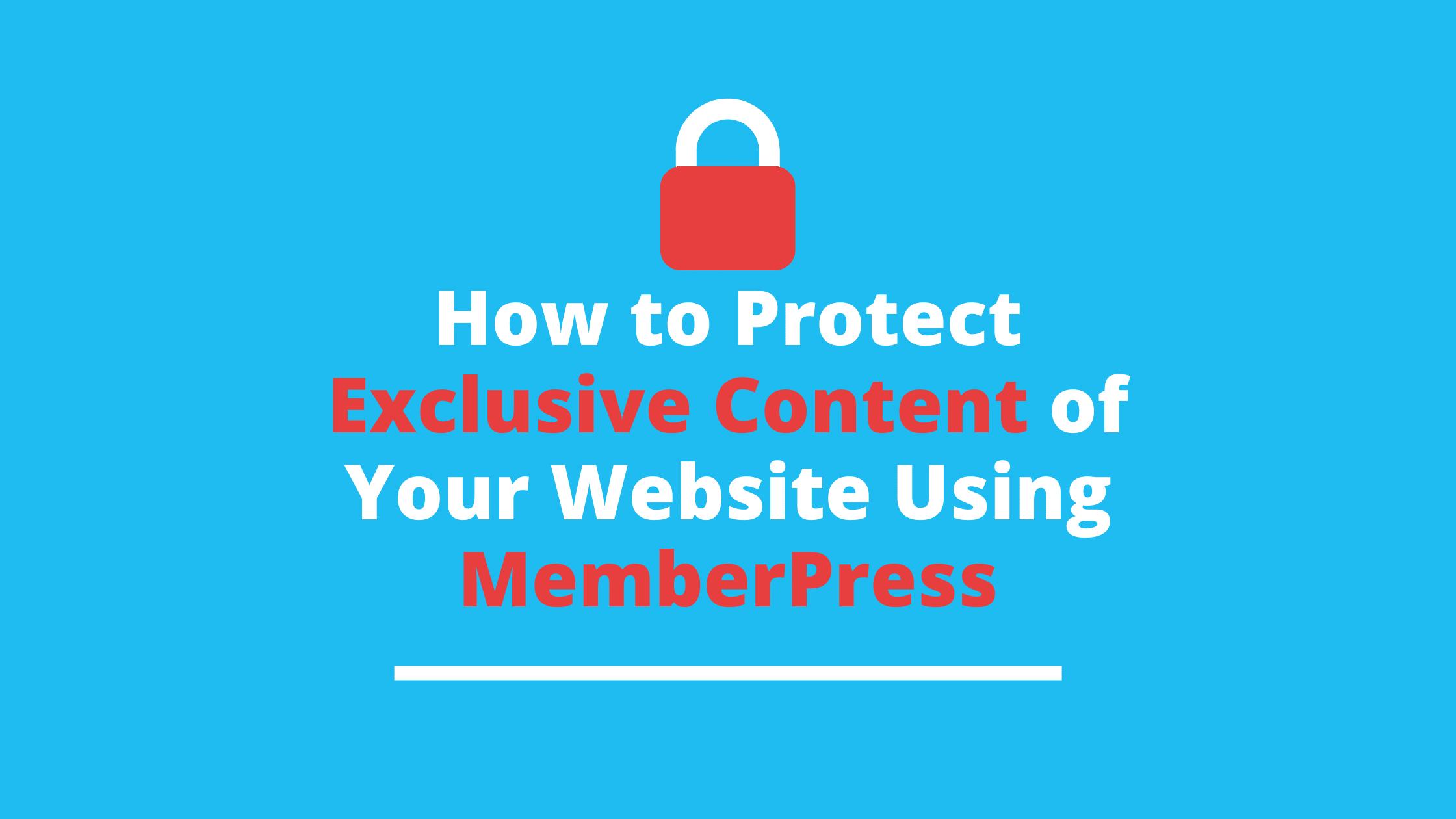 Content Protection Rule using MemberPress